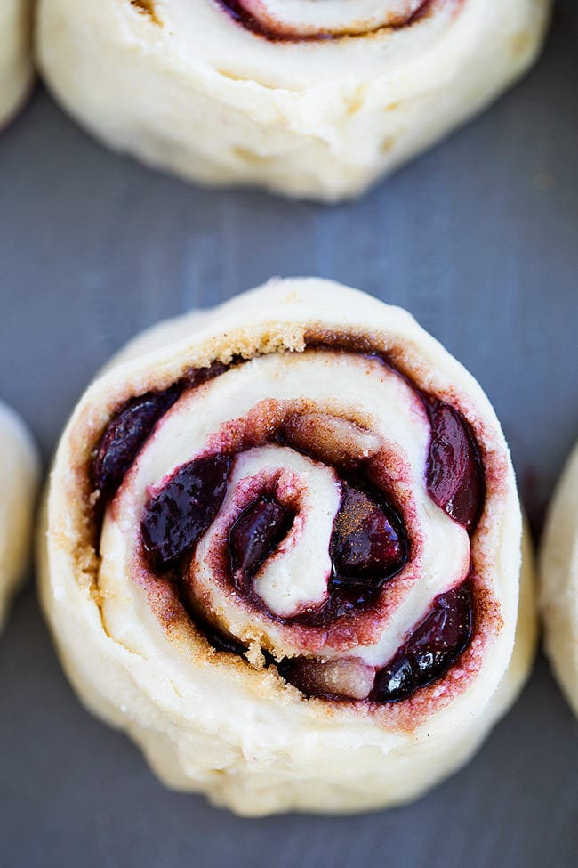 Cherry Almond Sweet Rolls Recipe