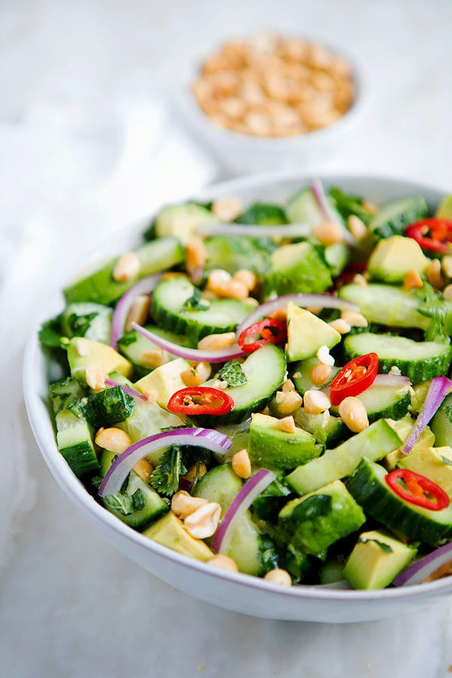 Cucumber Avocado Salad Recipe