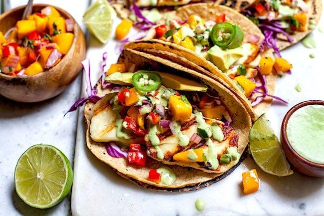 Grilled Halloumi Tacos Recipe