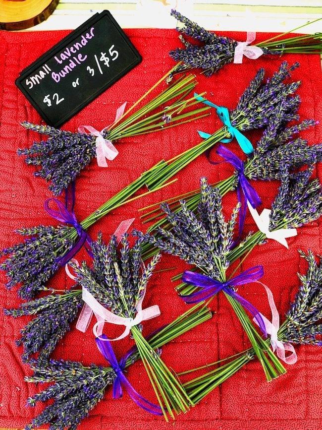 McCall Idaho farmers market lavender