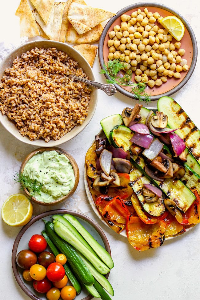 Greek Vegetable Bowls