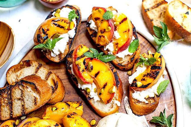 Grilled Peaches with Burrata Recipe