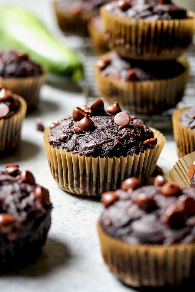 Healthy Chocolate Zucchini Muffins Recipe