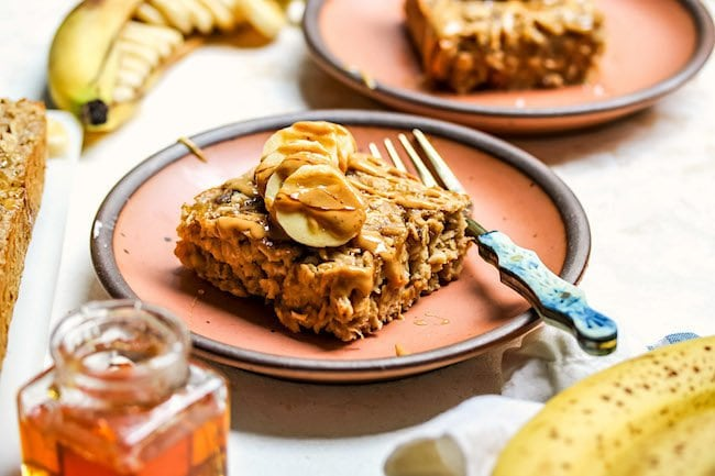 Easy Peanut Butter Banana Baked Oatmeal Recipe
