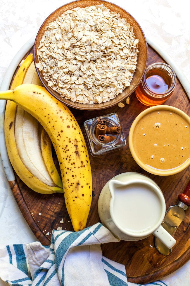Peanut Butter Banana Baked Oatmeal Ingredients