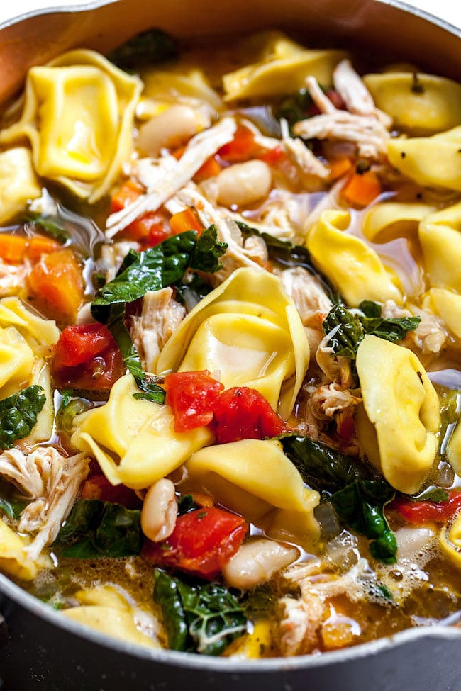 Tuscan Chicken Tortellini Soup Recipe