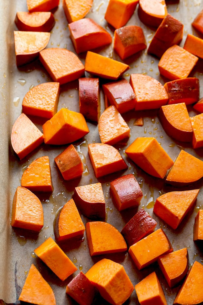 How to make Maple Roasted Sweet Potatoes