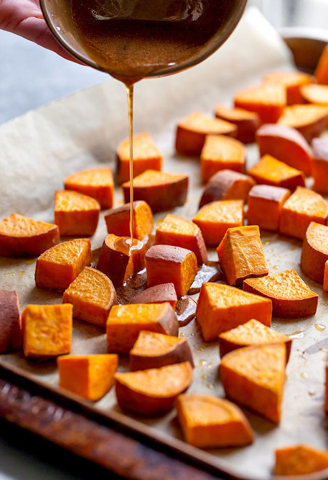 Maple Roasted Sweet Potatoes Recipe