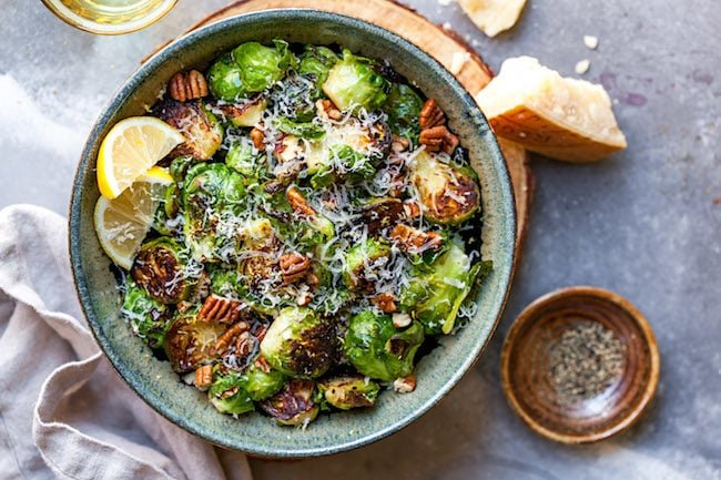 Sautéed Brussels Sprouts with Lemon and Parmesan