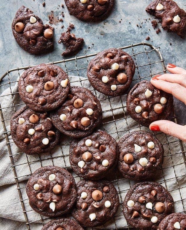 Triple Chip Chocolate Cookies