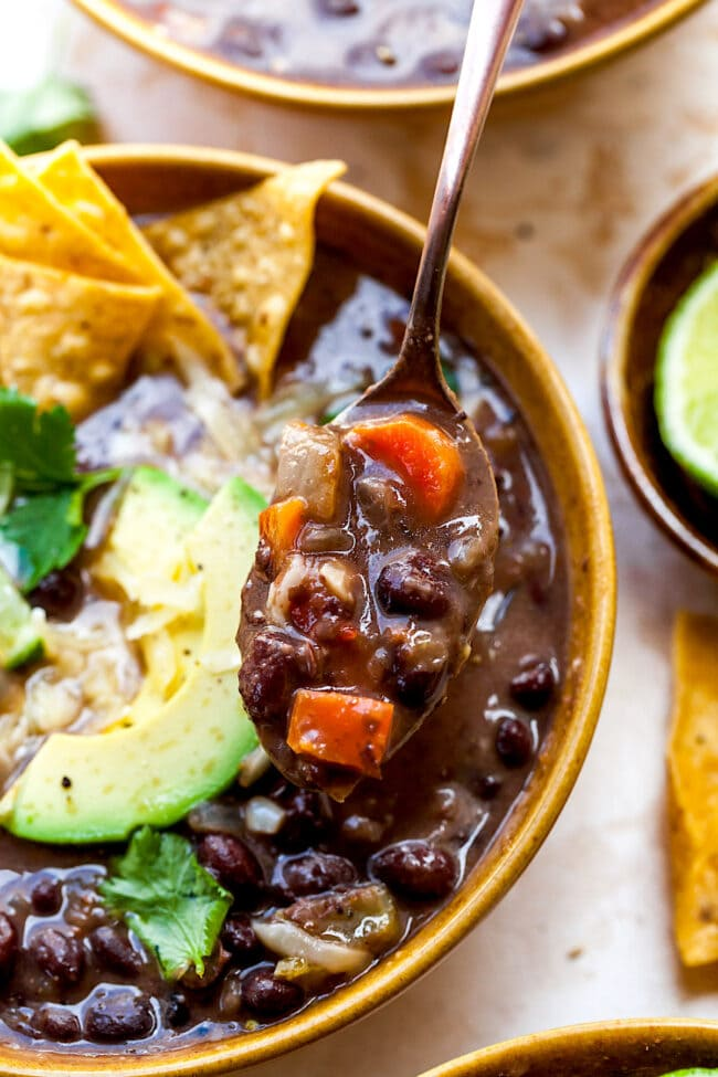 Soup with black beans