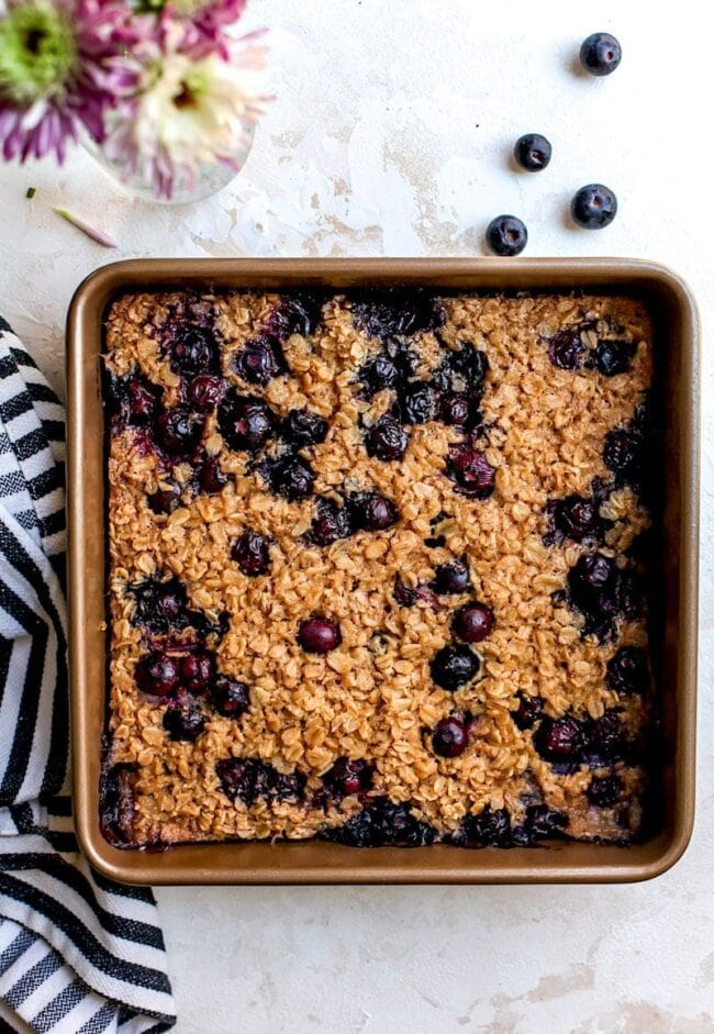 Blueberry Maple Baked Oatmeal