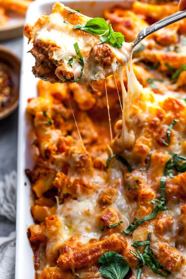 Recipe for Baked Ziti