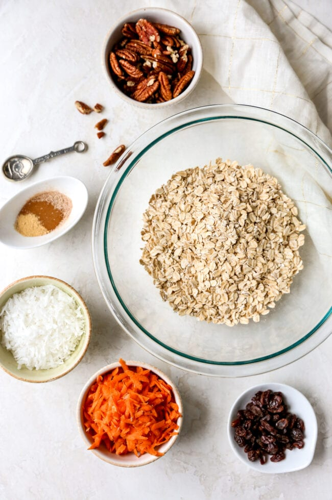 Carrot Cake Baked Oatmeal Ingredients