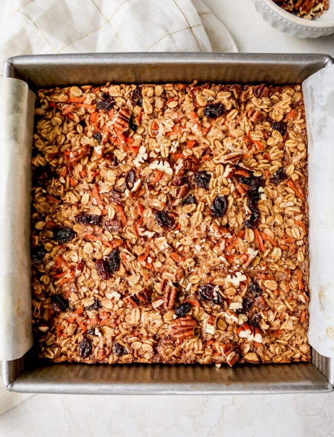 Easy Carrot Cake Baked Oatmeal Recipe