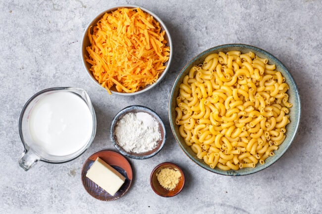 Stovetop Mac and Cheese Ingredients
