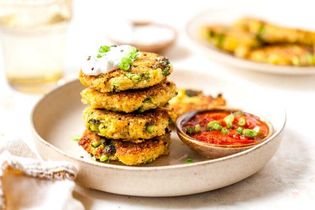 Easy Broccoli Cheddar Fritters