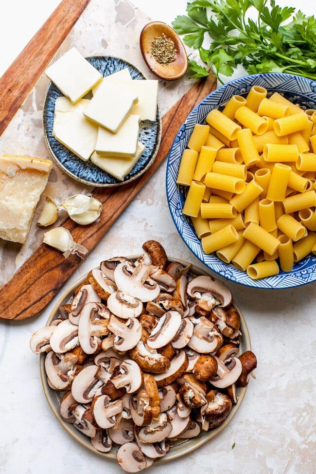 Brown Butter Mushroom Pasta Ingredients