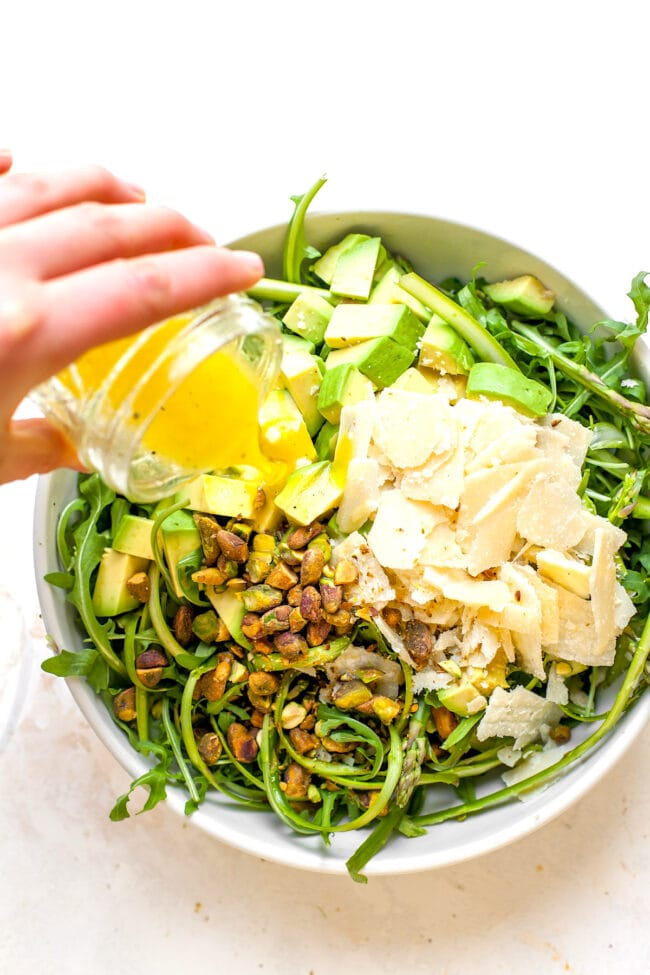 Shaved Asparagus Salad Ingredients