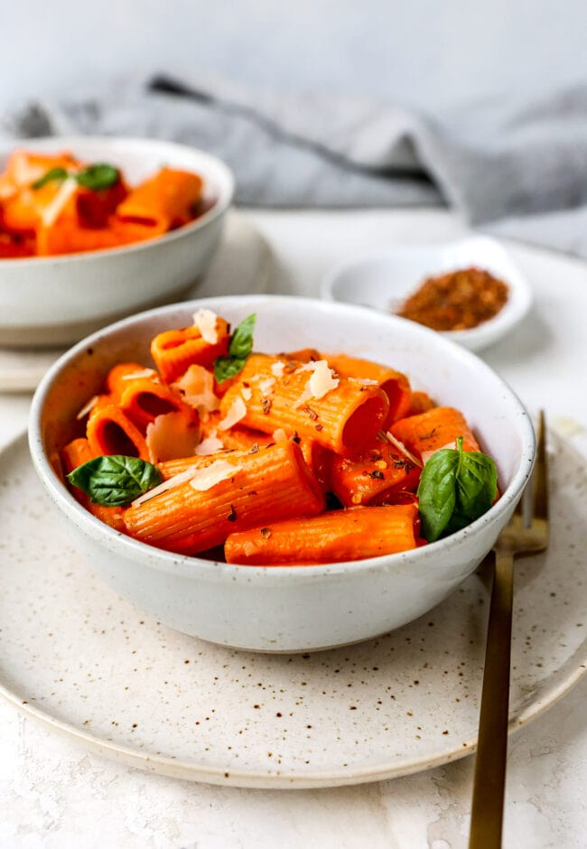 Easy Roasted Red Pepper Pasta