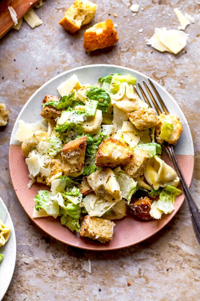 Caesar Salad with Tortellini
