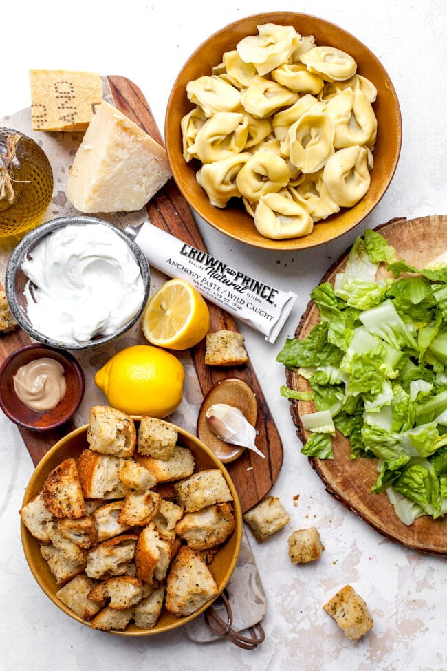 Tortellini Caesar Salad Ingredients