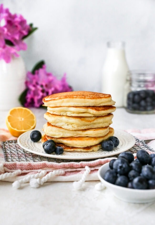 Lemon Ricotta Pancakes Stack