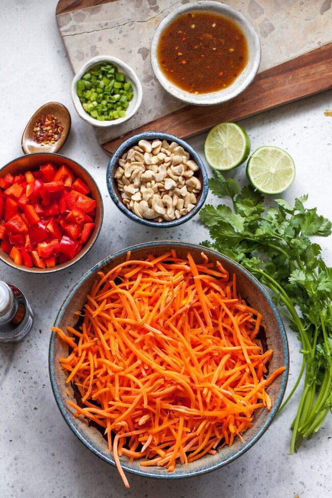 Asian Carrot Salad Ingredients