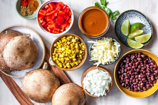enchilada stuffed mushroom ingredients