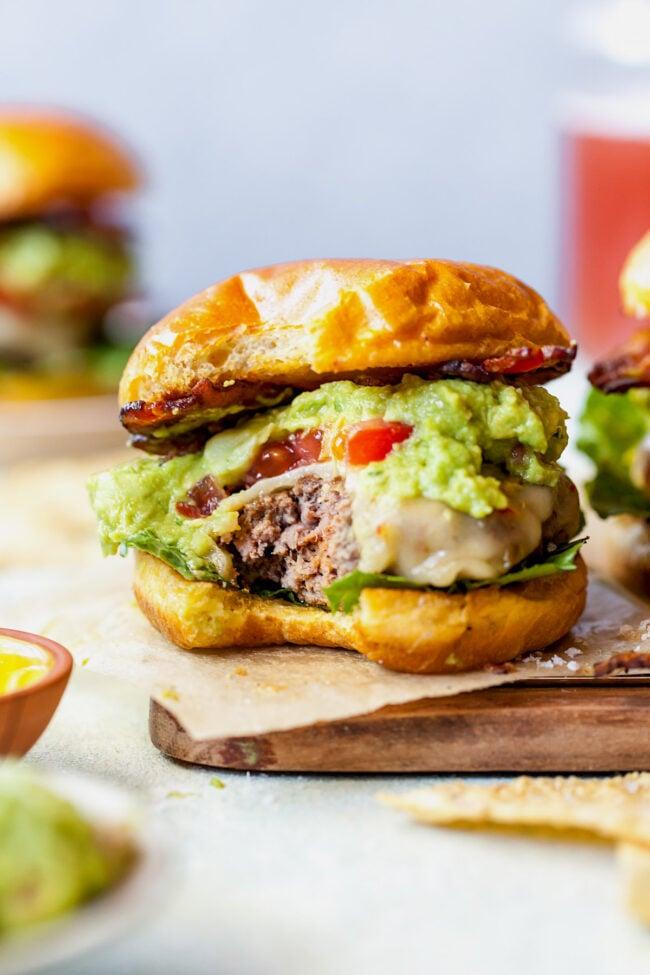 Guacamole Bacon Burger on bun