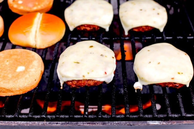 Chipotle Burgers on grill
