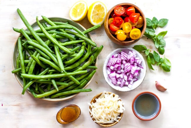 green bean salad ingredients