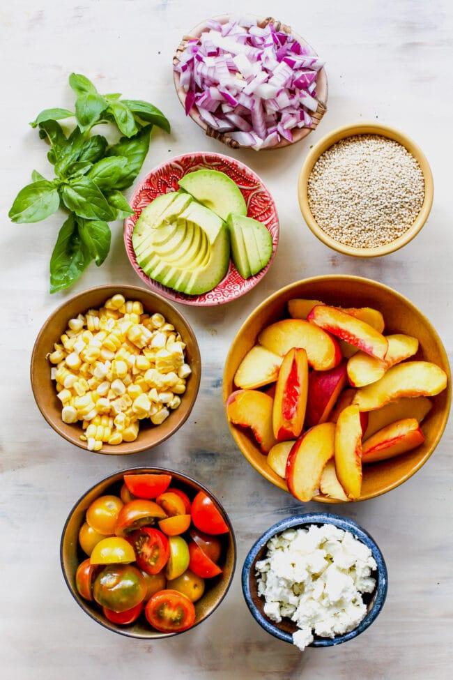 summer quinoa salad ingredients