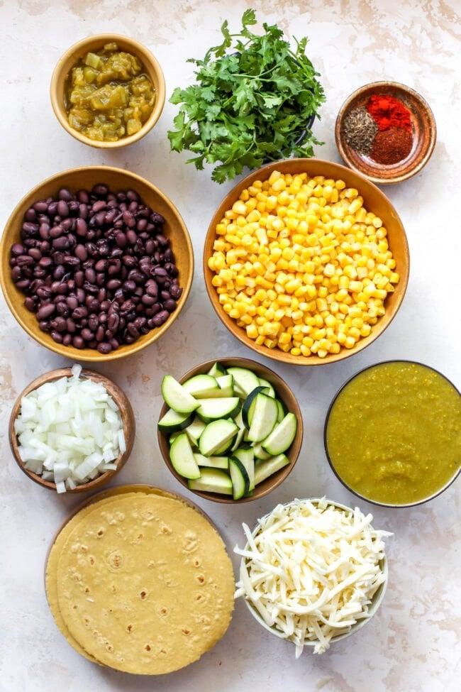corn and zucchini enchiladas ingredients