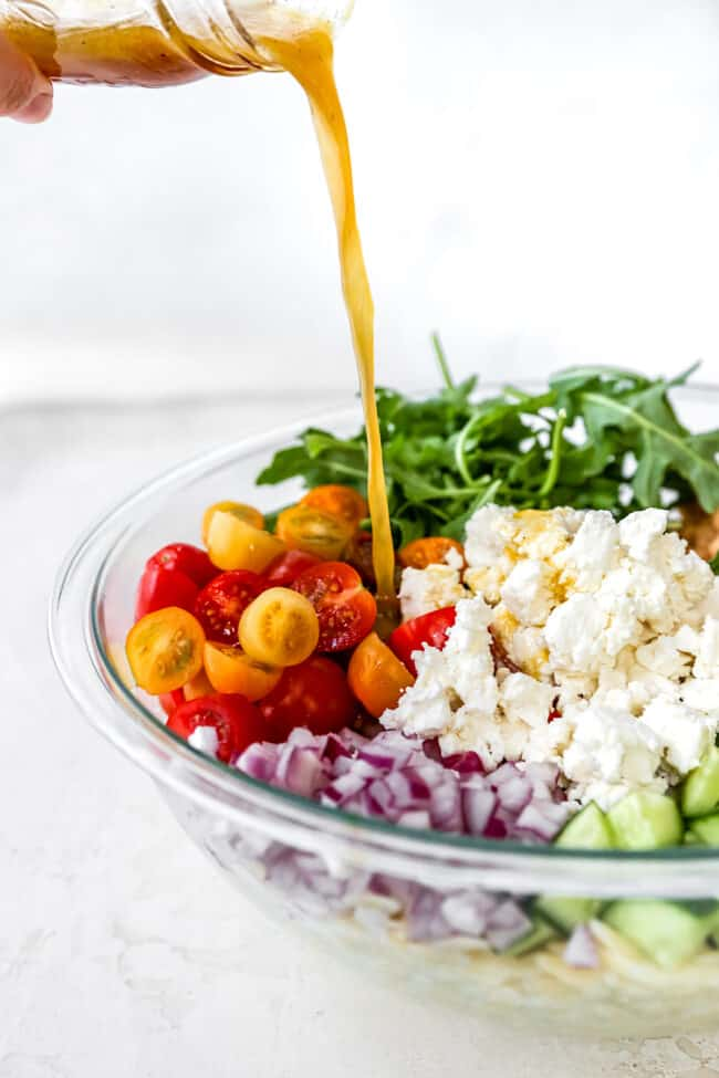 orzo salad recipe with dressing