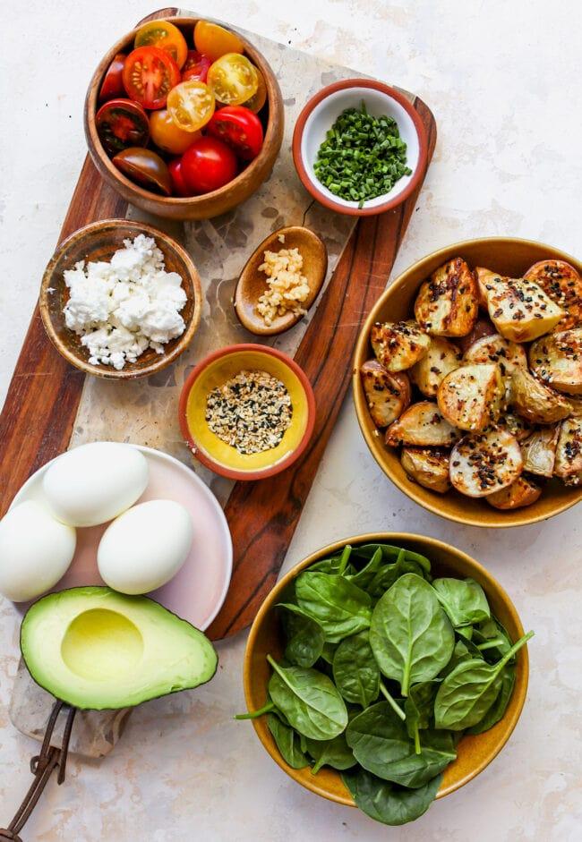 Savory Breakfast Bowl Ingredients