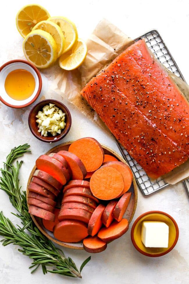 Honey Rosemary Baked Salmon Ingredients