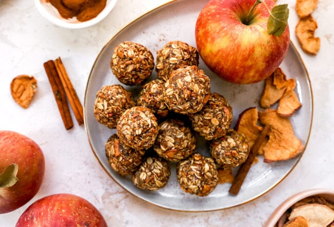 Healthy Cinnamon Apple Energy Balls