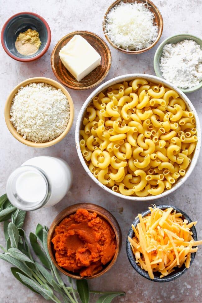 Pumpkin Mac and Cheese Ingredients