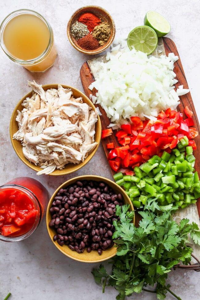 chicken fajita soup ingredients