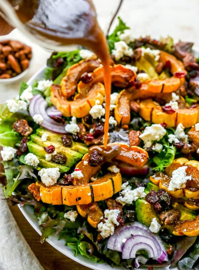 Delicata squash salad with dressing