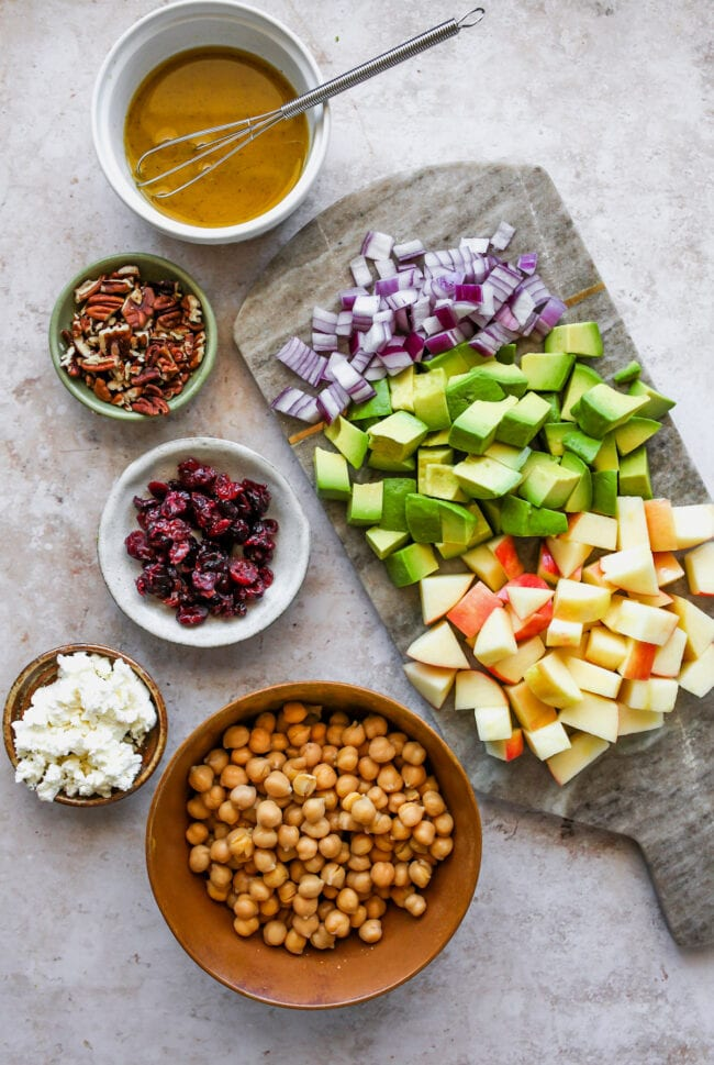 fall chickpea salad ingredients