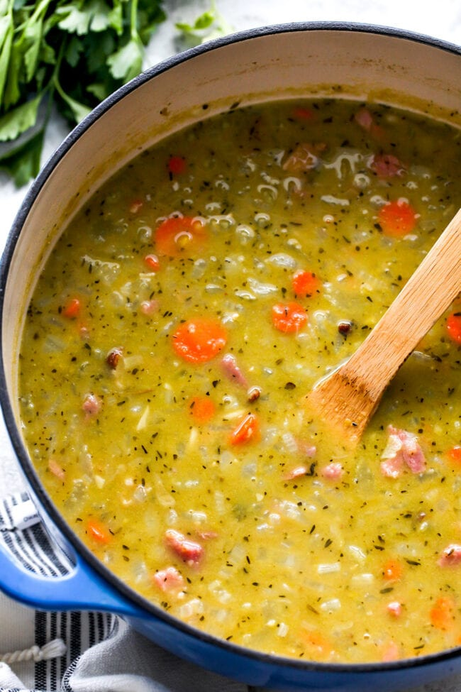 Split Pea Soup in pot