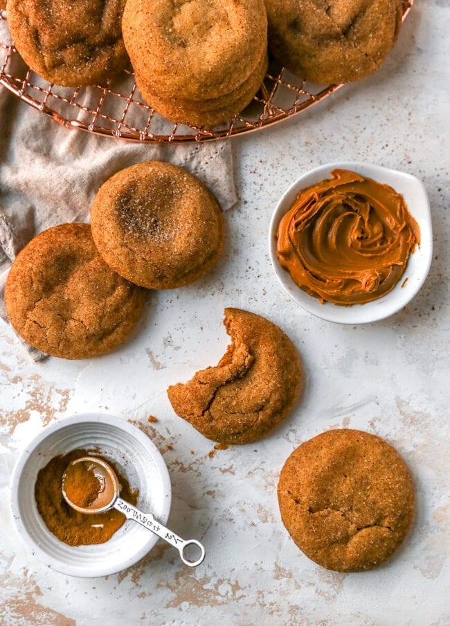brown butter Biscoff snickerdoodle cookies