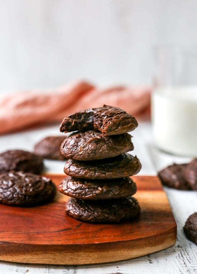 stack of brownie cookies