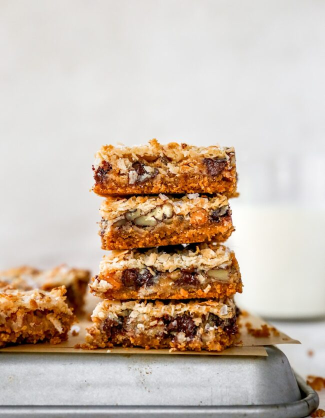 stack of Magic Cookie Bars