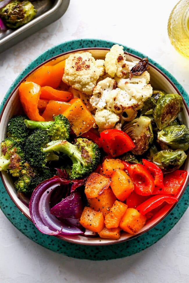 roasted vegetables in bowl
