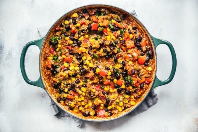 how to make vegetarian taco skillet