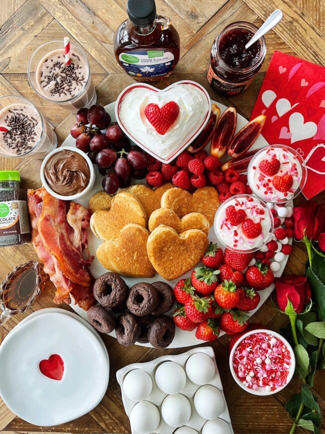 Valentine's Day Breakfast Board