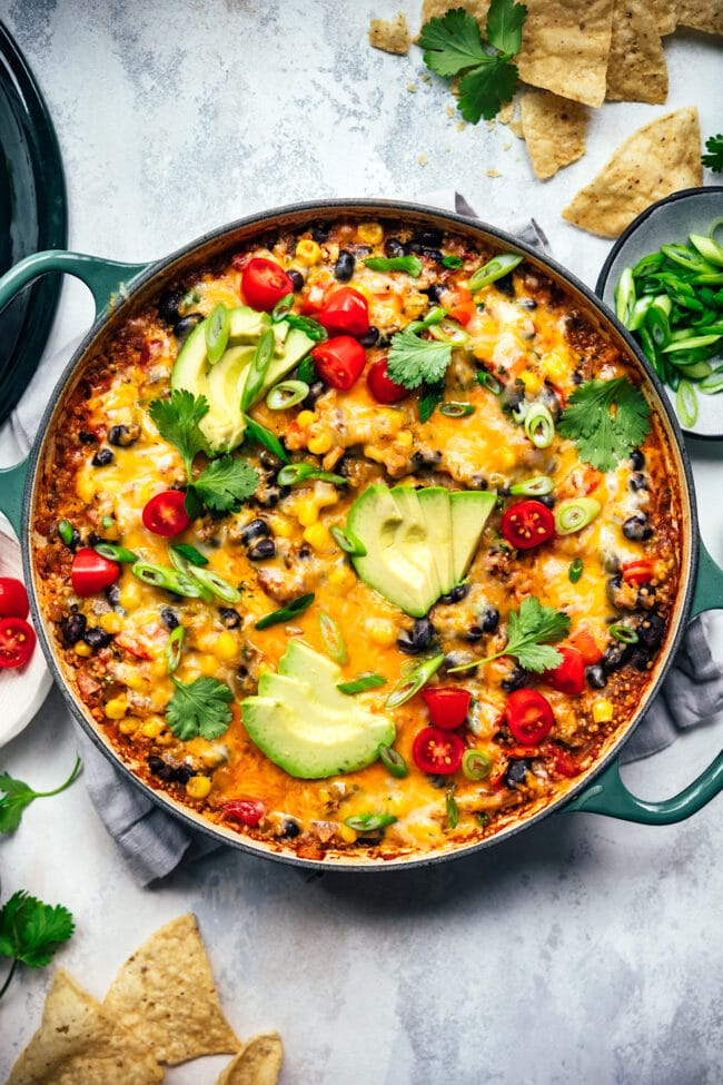 vegetarian taco skillet